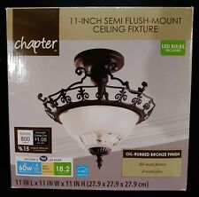 "Chapter 11.25"" Semi-Flush Mount Fixture, Oil-Rubbed Bronze Finish"