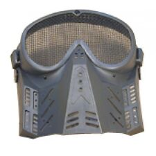 BLACK UNIVERSAL SOFT AIR TACTICAL MESH FACE MASK for softair airsoft