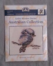 Baby Kookaburra cross stitch kit from DMC 9 x 7 cm on 18ct Ecru Aida