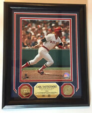 Carl Yastrzemski Red Sox Highland Mint Hall of Fame Framed Print & 24Kt Coins