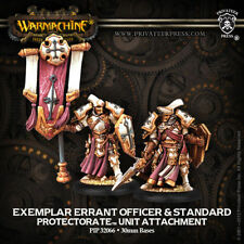 Warmachine: Protectorate of Menoth Exemplar Errant Officer & Attachment 32066