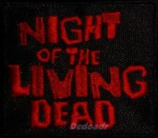 The Night of the Living Dead Logo Embroidered Patch Horror Movie Words 1968 Film