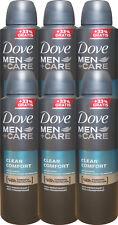 6 x 200 ml Dove Men +Care Deo Clean Comfort Anti-Transpirant 48h