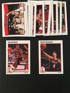 1991/92 NBA Hoops Miami Heat Team Set 18 Cards