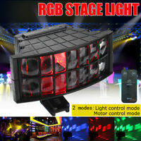 RGB LED Laser Projector Light Stage Lighting USB + Remote For DJ Disco Party