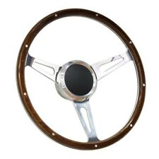 "15"" Wood Boat Steering wheel with Adapter 3 spoke boats with 3/4"" tapered key"