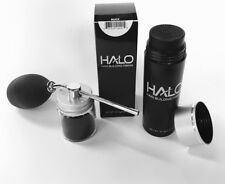Glass Applicator Atomizer + HALO Hair Building Fibers 27.5g  Black ,Brown ,Gray