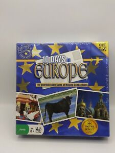 10 Days in Europe Unpredictable Game of Making Connections Board Game New Sealed