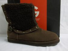 Guess Size 8 M Ganya Dark Brown Ankle Boots New Womens Shoes