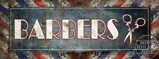 "BARBER SHOP 11"" X 4""  VINTAGE RETRO HANGING METAL SIGN HOME DECOR.MAN-CAVE-GIFT"