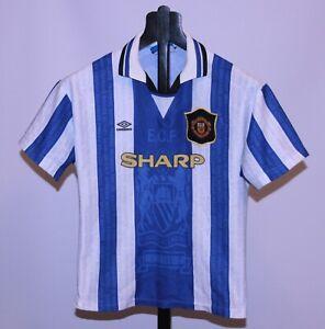 Vintage Manchester United England third football shirt 94/96 Umbro Size KIDS L