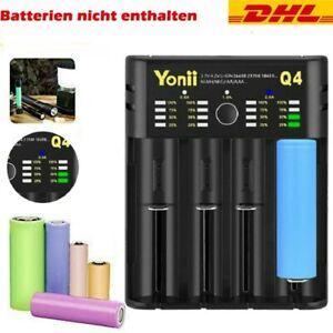 LCD Akku Ladegerät Für 18650 14500 21700 16340 Lithium Nimh Batterie 4 Slot DHL