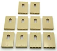 LEGO LOT OF 10 NEW TAN PANEL CASTLE WALLS WITH WINDOWS PIECES