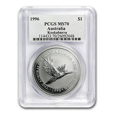 1996 1 oz Silver Australian Kookaburra - MS-70 PCGS