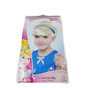 Cinderella Princess Wig Child Size Disney Costume Blonde Blue Ribbon Halloween