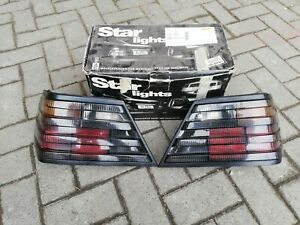 Mercedes W124 230 260 300D 24 500E 400E AMG Brabus HELLA Smoked Euro Tail Lights
