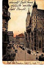Wien AK 1911 Rotenturmstrasse Stefansplatz Stefanskirche Tram Österreich 1503758
