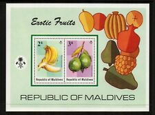 Maldive Islands 1975 Exotic Fruits Minisheet - SG MS567 - UM