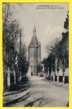 CPA 28 - SENONCHES (Eure et Loir) Entrée de l'Avenue POUCIN Église Notre Dame