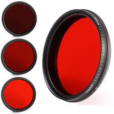 Adjustable 82mm Infra-Red IR Lens Filter 530nm to 750nm 590nm 630nm 680nm 720nm