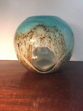 "Large 8"" Art Glass Cased Rose Bowl Vase"