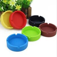 Fashion Silicone Soft Eco-Friendly Round Ashtray Cigarette Holder W