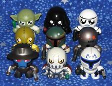 Star Wars Mini Muggs Complete Set of 9 Action Figures Excellent Yoda Vader Fett