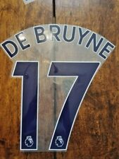 2017/19 Premier League EPL Manchester City DE BRUYNE Home Away Name set