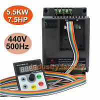 7.5HP 5.5KW VFD Drive Inverter Variable Frequency 380V 12.6A fr 3Phase CNC Motor