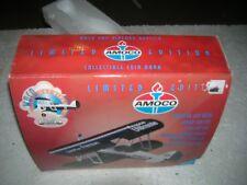 AMOCO WACO UBF BI PLANE AIRPLANE BANK LTD ED GEARBOX  1997 DIE-CAST METAL NIP