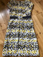 Boden yellow patterned dress size 10