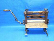 Antique HORSE SHOE BRAND Hand Crank Wooden Wringer for Washing Machine