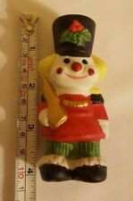 Flambro Toy Soldier Ceramic Porcelain Figurine Christmas xmas decor Ornament