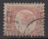 GB LINE ENGRAVED :1870 1/2d rose-red plate 12 R-R  SG48 used