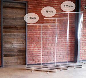 RollUp transparent, Hygieneschutz, Schutzwand, Spuckschutz, 100x150 cm