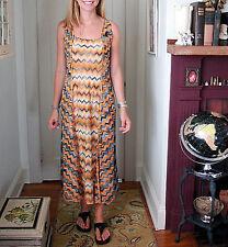 MISSONI  Chevron Zig Zag  Maxi Dress ORANGE LABEL Made in ITALY $1300 Retail