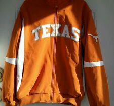 Mens TEXAS LONGHORNS Jacket TEXAS ORANGE & WHITE Mens Size XL BY Majestic Coat