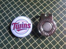 GOLF / Minnesota Twins Logo Golf Ball Marker/with Magnet Hat Clip New!!