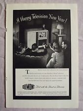 1947 Magazine Advertisement Page Du Mont Teleset Television TV Vintage Ad