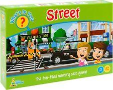 Che cosa è nella tua lista di shopping STREET? Memory Card Game by Little Wigwam