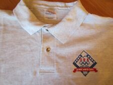 Mens USA NAGANO Olympics Winter Games 1998 Short Sleeve Polo Shirt XL