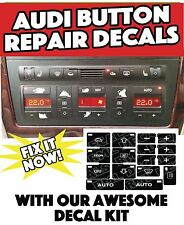 AC Button Repair Overlays Audi A4 B6;B7 /A6 Climate Control Decals