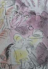 1927 Pigalle Francis Carco Marcel Vertès Lithographies en couleurs dessins orig.