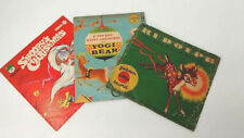 Vintage Kids Christmas Vinyl Records ~ Rudolph, Snoopy Christmas, Yogi bear