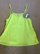 BNWT LADIES LIME GREEN BRAVE SOUL VIC POLYESTER CAMI TOP SIZE SMALL