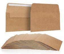 100 Pack, Size A4 Brown Kraft Paper Envelopes Self Sealing Adhesive Stationery