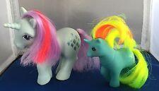 2 G1 My Little Pony Unicorns Baby Ribbon Beddy-Bye Eye & Sparkler