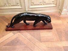 panthère en céramique noire époque 1930 -40