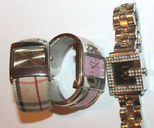 Watch Fabric Band Geneva Watch x2 & Jeweled Watch Lot