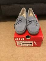 ARA Ladies Womens Shoes Aracup Lace Boat Shoes Grey Suede Think! Casual